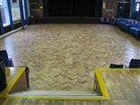 The main floor area is used for assembly, drama and dance classes.