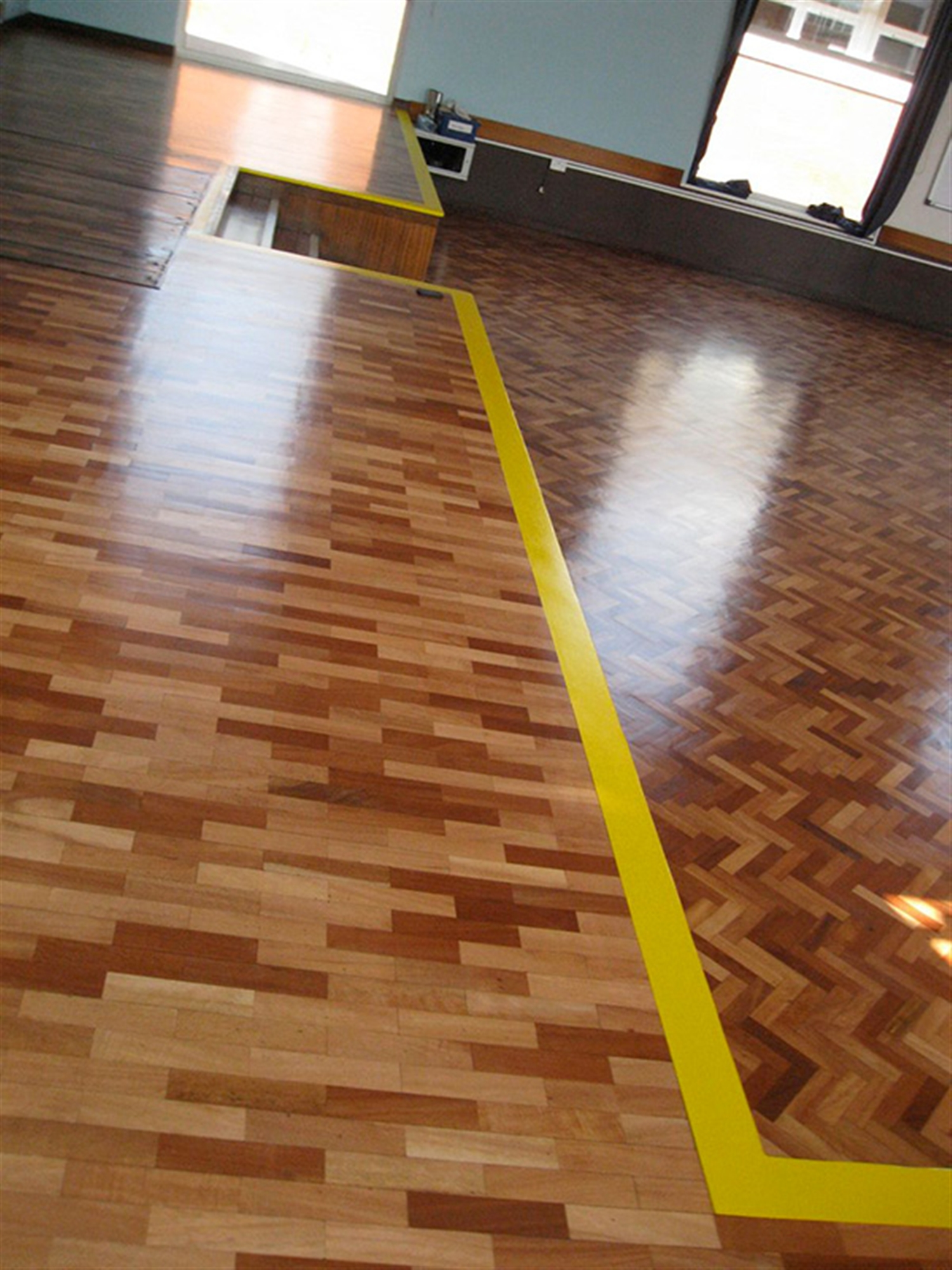 Parquet Wood Floor Restoration at Blue Coat Academy Coventry