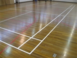 Once the courts had been re-painted, we applied three coats of top finish for a strong and long-lasting protection.