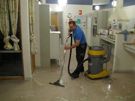 Linoleum Floor Treatment In Care Home