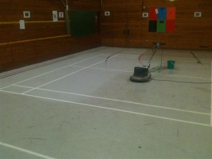 Deep Cleaning Linemarking Amp Sealing Sports Hall Finham