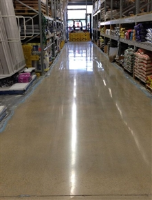 Concrete polishing makes the aisles more durable and much easier to maintain.